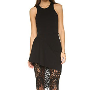 Manson Racerback Dress With Lace Skirt